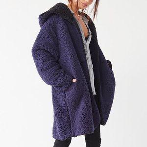 Fuzzy Hooded Jacket